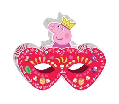 Маска бумажная «Свинка Пеппа-принцесса» (6 шт.)