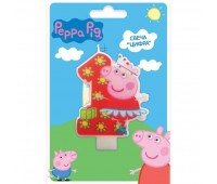 Свеча цифра 1 «Свинка Пеппа» (Peppa Pig)