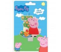 Свеча цифра 3 «Свинка Пеппа» (Peppa Pig)