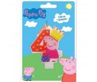 Свеча цифра 4 «Свинка Пеппа»