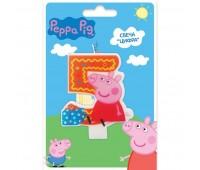 Свеча цифра 5 «Свинка Пеппа» (Peppa Pig)