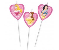 Трубочки для напитков «Принцессы Disney» (6 шт.)