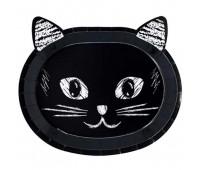 Тарелки Котики черные (6 шт.)