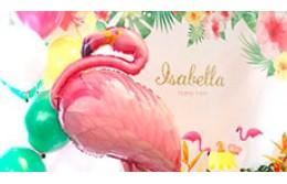 День рождения с Фламинго на Гавайях