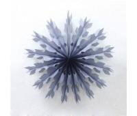 Фант Снежинка серебряная (40 см)