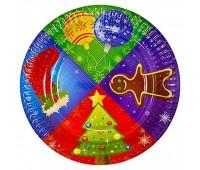 Тарелка «Рождество», 17 см (6 шт.)
