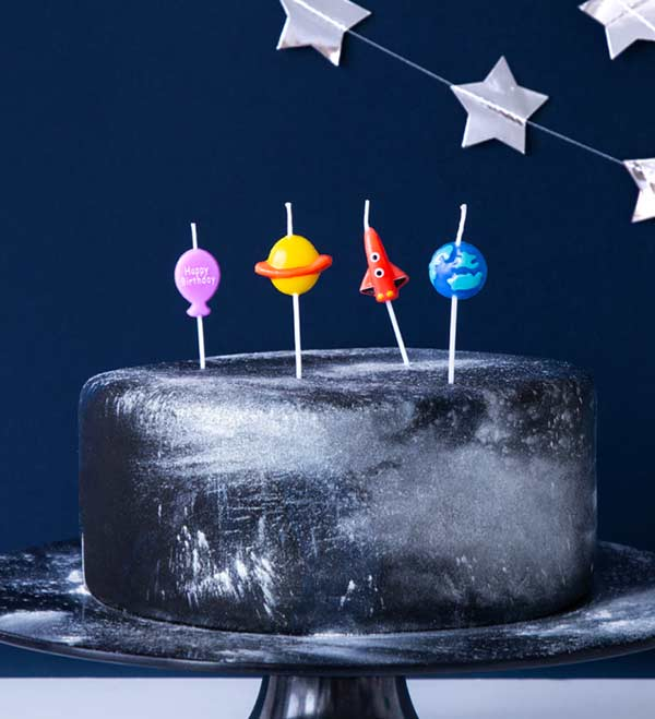 Космические свечи для торта