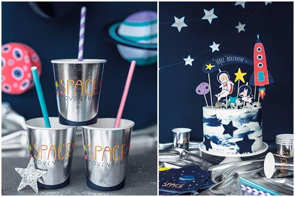 Декор стола для космической вечеринки