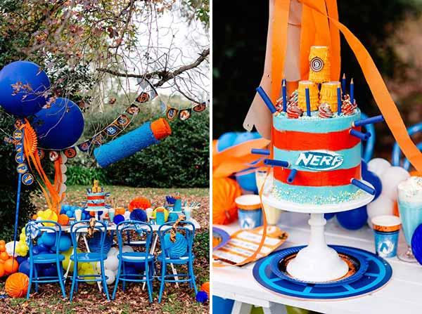 Nerf-party: оформление и декор