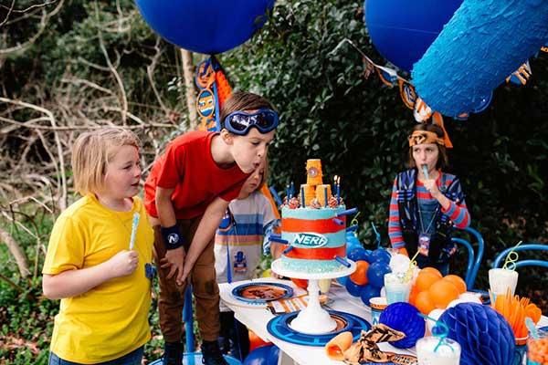 Вечеринка в стиле Nerf на день рождения