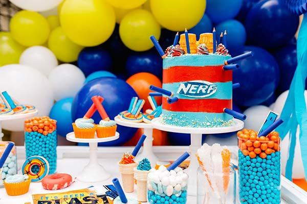 День рождения в стиле нерф - идеи
