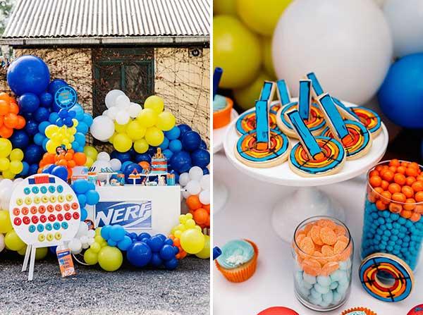 Товары для праздника в стиле NERF