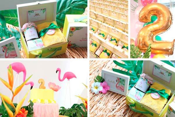 Вечеринка с фламинго: подарки для гостей