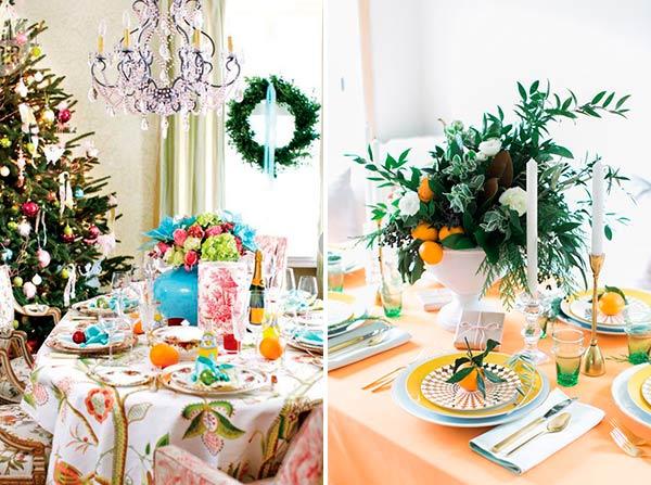 Яркая Новогодняя сервировка стола