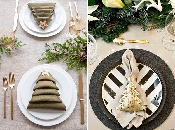 Новогодняя тканевкая салфетка в форме елочки
