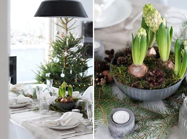 Новогодняя сервировка стола: лаконичный скандинавский стиль