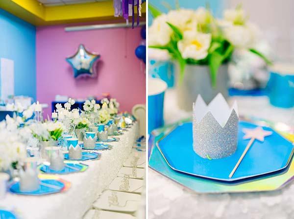 Декорирование стола для вечеринки Frozen