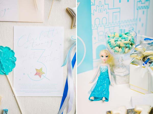 Детали сладкого стола для вечеринки Frozen