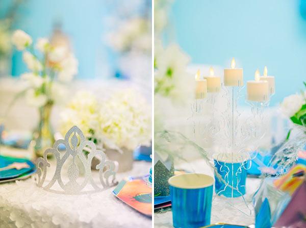 Детали оформления стола для вечеринки в королевстве Эренделл