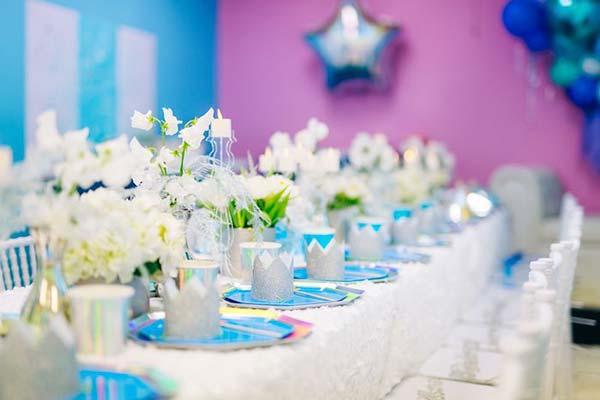 Декорирование вечеринки с Анной и Эльзой Frozen