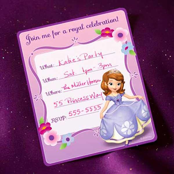 Приглашение Принцесса София скачать