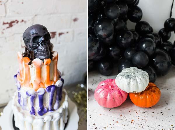 Фотозона из шаров для вечеринки Halloween