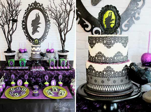 Десертный стол в стиле Малефисента