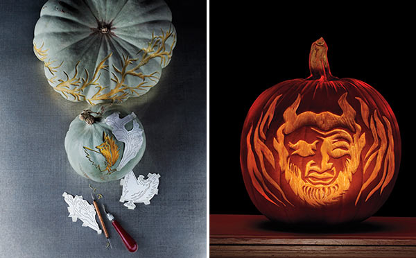 Декорирование тыквы на Хэллоуин