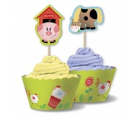 Обертки и пики для кексов «Забавная ферма»