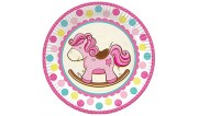 Лошадка розовая