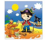 Салфетка «Маленький пират» (12 шт.)