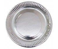 Тарелка серебро (25 шт.)