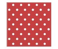 Салфетки красные Горошек (20 шт.)