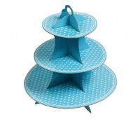 Подставка для десертов Голубой горошек