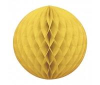 Шар бумажный желтый (20 см)