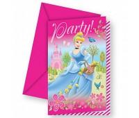 Приглашение «Принцессы Disney» (6 шт.)